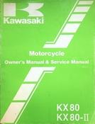 1986 Kawasaki KX80 KX80-II Motorcycle Owners Manual and Service Manual