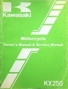 1986 Kawasaki KX250 Owners Manual & Service Manual