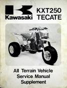 1986 Kawasaki KXT250 Tecate All Terrain Vehicle Service Manual Supplement