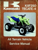 1987 Kawasaki KXF250 Tecate-4 All Terrain Vehicle Service Manual