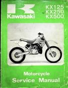 1988 Kawasaki KX125 KX250 KX500 Motorcycle Service Manual