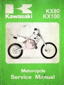 1991 Kawasaki KX80 KX100 Motorcycle Service Manual