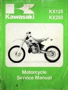 1994 Kawasaki KX125 KX250 Motorcycle Service Manual