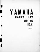 1972 Yamaha DS7 Parts List