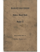Harley-Davidson Riders Hand Book Model K