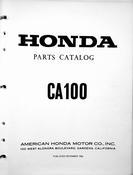 1960-1968 Honda CA100 Parts Catalog