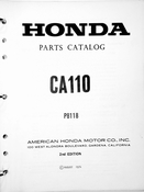 1960-1968 Honda CA100 Parts Catalog (2nd ed.)