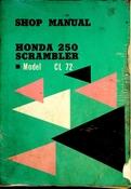 1962-1965 Honda 250 Scrambler Model CL72 Shop Manual