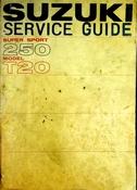1966 Suzuki Service Guide Super Sport 250 Model T20